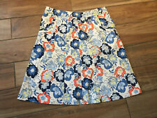 NWOT Liz Claiborne Sz 12 Floral Cotton Lycra Twill Golf Skirt