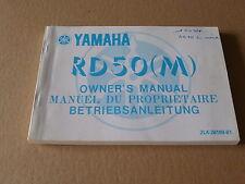 MANUEL UTILISATEUR DU PROPRIETAIRE YAMAHA RD50 1979- Owner's manual RD 50