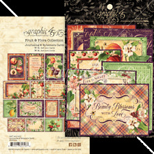 Graphic 45 FRUIT & FLORA Ephemera & Journaling Cards x32