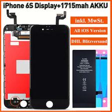 LCD Für iPhone 6S Display Retina Bildschirm Scheibe TouchScreen + 1715mAh AKKU