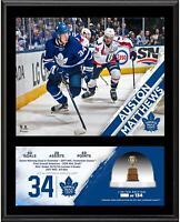 Auston Matthews Maple Leafs 12x15 2017 Calder Trophy Plaque & GU Ice - LE134