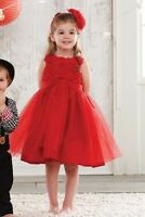 Mud Pie Baby Girls Holiday Red Christmas Collection Rosette Party Dress New