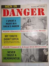 VINTAGE Men in Danger Magazine - December 1955 - Night In A Sheik's Harem - Pulp