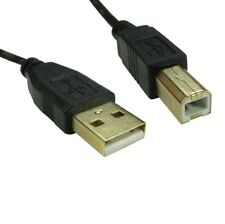 1m USB Cable Printer Lead Type A to B Male High Speed 2.0 GOLD PLATED CONNECTORS