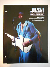 ▓ PLAN MEDIA 4 PAGES ▓ JIMI HENDRIX : JIMI PLAYS BERKELEY