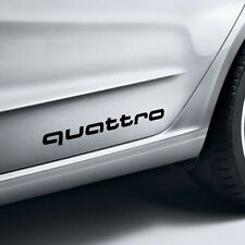 Original Audi Lámina Decorativa Quattro Negro Brillante 4G0064317AY9B para Todos