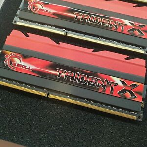 G.SKILL TridentX Series 32GB 4 x 8GB 240-Pin DDR3 SDRAM DDR3 2133 PC3 12800