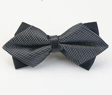 Nœud Papillon/Bowtie Luxe Noir Accessoires Costume Homme Cérémonie Mariage Noël