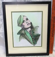 Plate Engraving signed Suzan Stuz Luther Print Color Hand Tinted Original Steel