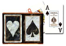 CONGRESS BLACK MARBLE BRIDGE PLAYING CARDS 2 DECK SET JUMBO INDEX NEW IN BOX