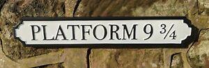 Platform 9 3/4 Sign Harry Potter Hogwarts Train Station Gift Road Sign Vintage