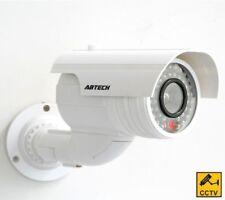 Manichino Falso Cctv Telecamera Sicurezza IR LED Lampeggiante Sorveglianza Interni Esterni
