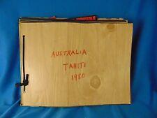 Souvenir album Australia New Sealand & Tahiti 1980 maps pictures itinerary cards