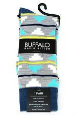 Buffalo David Bitton Gray & Aqua Clouds Colorful Socks - $18 Retail - Brand New
