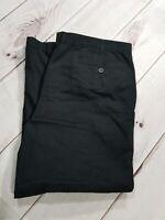 "George Mens Black Pleated Dress Pants Slacks Size 42 x 30 Inseam 28"""