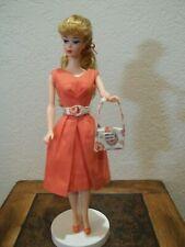 NEW REPRODUCTION BARBIE-OOAK FRENCH BRAID+VINTAGE 1960'S BELLE DRESS+JAPAN HEELS