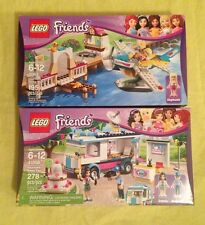 LEGO FRIENDS 3063 HEARTLAKE FLYING CLUB & 41056 HEARTLAKE NEWS VAN - RETIRED