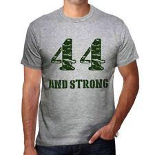 44 And Strong Hombre Camiseta Gris Regalo De Cumpleaños 00476