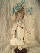 "DOLL DRESS PATTERN FOR 11"" FRENCH DOLL VICTORIAN STYLE ~ HANNAH"