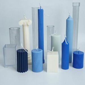 Long pole Stripe Candle Mold Plastic Pillar Candles Making