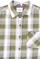Tommy Bahama shirt L long sleeve khaki/beige Checkered *1019