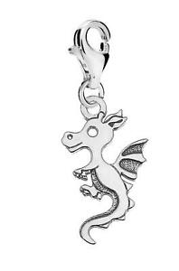GENUINE 925 SILVER SMALL DRAGON CLIP ON CHARM BEAD FOR CHARMS BRACELET A22C