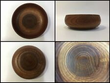 Japanese Wooden Snack Bowl Cup Kashiki Vintage Lacquer Ware Brown I225