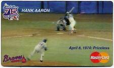 "HANK AARON *Mastercard PRICELESS"" PROMO Motion Card"