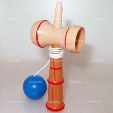 Rare Small Kendama Tradition Japanese Blue Ball Wood Classic Toy Bilboquet