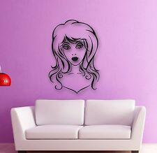 Wall Stickers Vinyl Decal Beautiful Woman Hairdresser Hair Salon Spa (ig747)