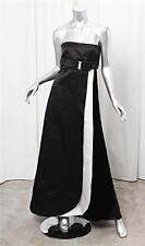 VALENTINO Womens Black Satin Strapless Empire Waist Formal A-Line Gown Dress 10