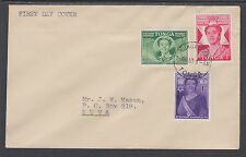 Tonga Sc 91-93 FDC. 1950 Queen Salote 50th Birthday, local use