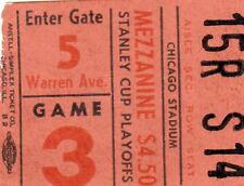 1961 CHICAGO BLACKHAWKS STANLEY CUP CHAMP TICKET STUB