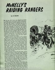 Captain L H McNelly Raiding Texas Rangers +Alexander,Armstrong,King,Clendenin