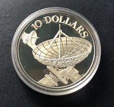 Singapore 1978 $10 Silver Proof Coin $10:  Satellite Dish