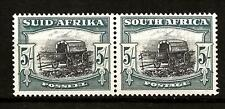 SOUTH AFRICA (796)1933-48 SG64 5/- BLACK-GREEN PAIR OF 2 FINE UMM /MNH