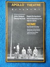Home - Apollo Theatre Playbill - 1970 - John Gielgud - Ralph Richardson
