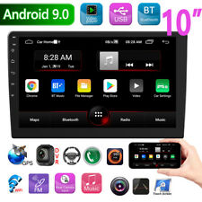 """2 DIN 10"""" HD Android 9.0 Touch Car Stereo GPS Nav BT FM MP5 Player WiFi FM Radio"""