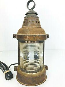 Kilborn Sauer Co Antique Copper Lantern Sconce Light Fixture 18(H) x 7.5(W)