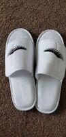 Eye Lash Slippers White or Navy in various sizes