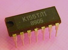 20x k155tl1 DUAL 4-Input NAND Schmitt Trigger = 7413