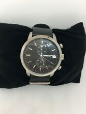 Fossil FS4784 Townsman Men's Black Leather Quartz Analog Genuine Watch Bb47
