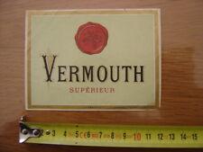Etiquette VERMOUTH SUPERIEUR Lith PALVART 629 Haberer Plouviez