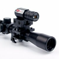 Scope Tactical Crossbow Optic with Red Dot Laser Sight and 11mm Rail Mount Scope