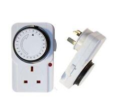Nouveau 3 x 24 Plug In Timer Douilles Heure Timer Plug In Timer Socket Horloge temps principal