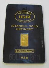 One Half Gram- IGR Nice Solid marked  BU Sealed .9999 Gold Bar (coin/bullion)