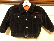 "HARLEY DAVIDSON JACKET TODDLER GIRL 2T BLACK ""VELVET"""