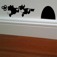 Mouse House Vinyl wall sticker home decor Wall Decal cartoon car sticke JRFB