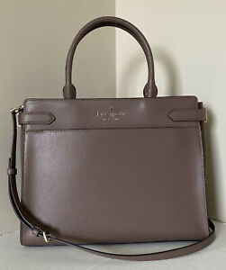 New Kate Spade New York Staci Large Satchel Leather Dusk Cityscape