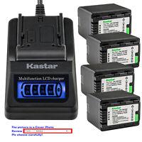 Kastar Battery LCD Quick Charger for Panasonic VW-VBK360 & HDC-HS60 HDC-HS60K